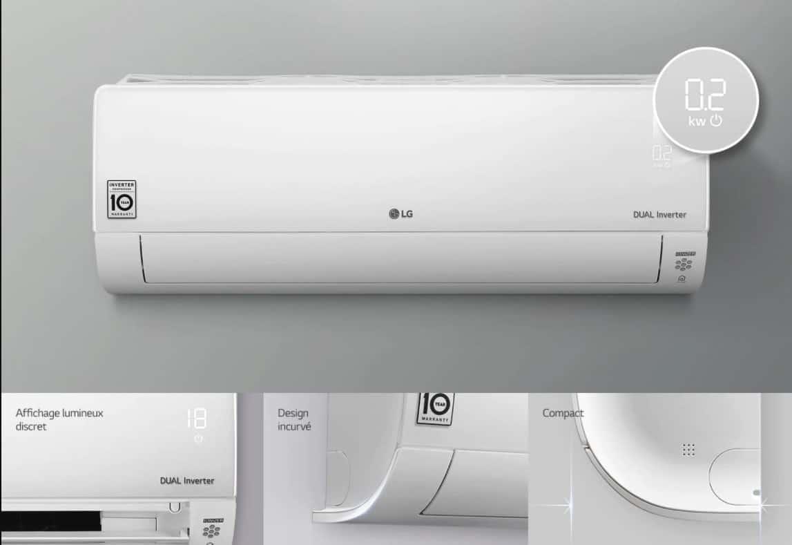 Climatiseur DualCool LG Deluxe  UVnano